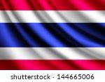 waving flag of thailand  vector | Shutterstock .eps vector #144665006