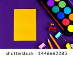 school office supplies... | Shutterstock . vector #1446662285