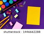school office supplies... | Shutterstock . vector #1446662288