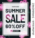 summer sale discount peonies... | Shutterstock . vector #1446662462