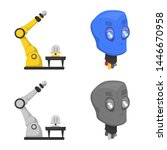 isolated object of robot and... | Shutterstock . vector #1446670958