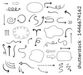 collection of arrows  pointers... | Shutterstock .eps vector #1446674162