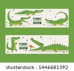 Funny Crocodiles Show Set Of...