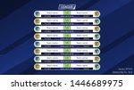 scoreboard and corresponding... | Shutterstock .eps vector #1446689975