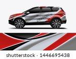 car decal wrap design vector.... | Shutterstock .eps vector #1446695438