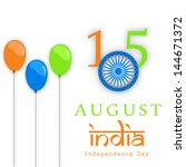 indian independence day... | Shutterstock .eps vector #144671372