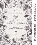 little little garden. floral... | Shutterstock .eps vector #1446731732