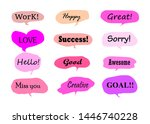 hand drawn sets of sweet... | Shutterstock .eps vector #1446740228