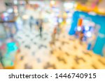 abstract blur people in... | Shutterstock . vector #1446740915