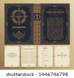 vintage book layouts and design ... | Shutterstock .eps vector #1446746798