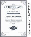 certificate of appreciation...   Shutterstock .eps vector #1446747512