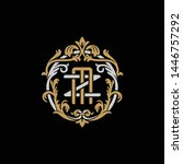 initial letter z and m  zm  mz  ... | Shutterstock .eps vector #1446757292