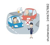 illustration of illegal driving ... | Shutterstock .eps vector #1446767882