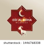 eid al adha mubarak the...   Shutterstock .eps vector #1446768338