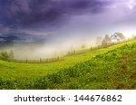 evening landscape in the... | Shutterstock . vector #144676862