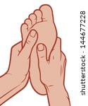 foot massage  | Shutterstock .eps vector #144677228