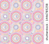 doodle seamless pattern with... | Shutterstock .eps vector #1446785258