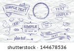 design elements of a stylized... | Shutterstock .eps vector #144678536