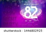 82 years anniversary logo...   Shutterstock .eps vector #1446802925