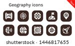geography icon set. 10 filled...   Shutterstock .eps vector #1446817655