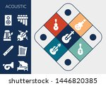 acoustic icon set. 13 filled... | Shutterstock .eps vector #1446820385