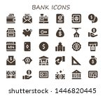 bank icon set. 30 filled bank... | Shutterstock .eps vector #1446820445