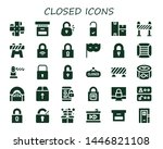 closed icon set. 30 filled... | Shutterstock .eps vector #1446821108