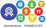 honor icon set. 9 filled honor... | Shutterstock .eps vector #1446821195