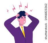 headache attack  compassion... | Shutterstock .eps vector #1446823262