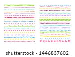 set of  hand draw underline... | Shutterstock .eps vector #1446837602