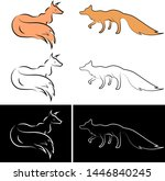 fox line art vector design  ... | Shutterstock .eps vector #1446840245