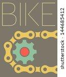 vector minimal design   bike  | Shutterstock .eps vector #144685412