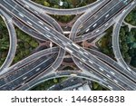 aerial view of highway and... | Shutterstock . vector #1446856838