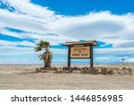 Welcome To Bombay Beach Sign At ...