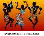 dancing aborigines.papuan...   Shutterstock .eps vector #144685856