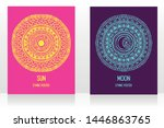 two cards with gypsy style with ... | Shutterstock .eps vector #1446863765