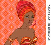 portrait of beautiful african... | Shutterstock .eps vector #144686492