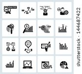 business analysis concept icons ... | Shutterstock .eps vector #144687422