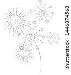 fireworks festive and event...   Shutterstock .eps vector #1446874568