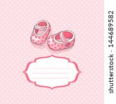 baby girl greeting card | Shutterstock .eps vector #144689582