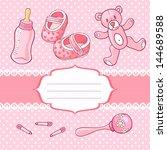 baby girl greeting card   Shutterstock .eps vector #144689588