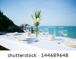 Table Setting At Beach...
