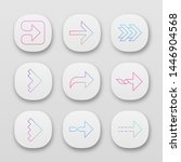 right arrows app icons set....