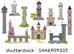 cartoon castle vector fairytale ... | Shutterstock .eps vector #1446909335