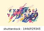 "slogan ""express yourself"" in... | Shutterstock .eps vector #1446929345"