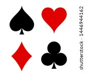 playing card symbol icon vector ... | Shutterstock .eps vector #1446944162
