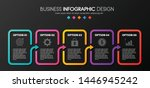 business infographic with 5... | Shutterstock .eps vector #1446945242
