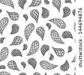 paisley vector seamless pattern.... | Shutterstock .eps vector #144694876