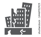 earthquake glyph icon  disaster ... | Shutterstock .eps vector #1446952925