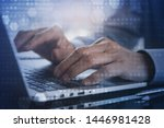 business and technology concept.... | Shutterstock . vector #1446981428